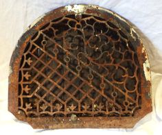 Radiator or Vent Grate Large Arched Cast by PatinaRustandBling