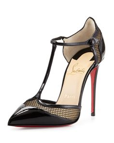 Christian Louboutin Miss Early Patent 100mm Red Sole Pump, Black $895.00