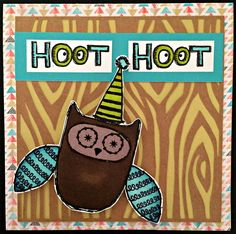 Shay & J Crafts: August Stamp of the Month, What a Hoot,Close to my Heart, Chalk it up