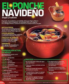 El Original :) Christmas Punch, Christmas Drinks, Holiday Drinks, Noel Christmas, Christmas Desserts, Holiday Recipes, Christmas Kitchen, Party Drinks, Christmas Treats