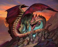 Hoarding Dragon - MtG Art