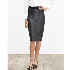 NWT Banana Republic Sequin Pencil Skirt - Classic pencil skirt featuring shimmering sequins, Banded waist. Invisible back zip. Fully lined. Simple but make you look fashionable without over dress! Banana Republic Skirts Pencil
