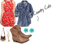 """Country Cute"" by emssickstyle on Polyvore"