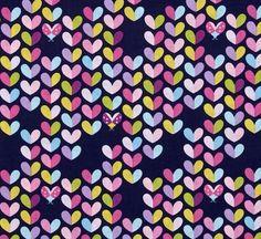 By 1/2 Yard Michael Miller Fabric Love Bug Navy ~ Birds & the Bees Tamara Kate #MichaelMillerFabrics