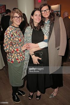 Jen Mankins, Stella Bugbee and <a gi-track='captionPersonalityLinkClicked' href=/galleries/search?phrase=Jenna+Lyons&family=editorial&specificpeople=5800179 ng-click='$event.stopPropagation()'>Jenna Lyons</a> attend the reception after the film screening for New York Magazine. It took place in New York at the Crosby Street Hotel on March 9, 2016 in New York City.