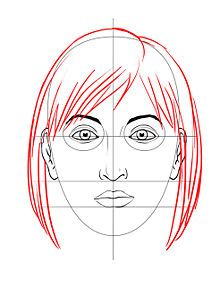 How to draw a face - I learned this in high school art class; good for review.
