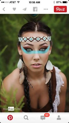 Native American princess warrior