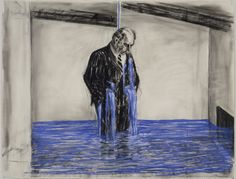 I love the work of William Kentridge. Here is a drawing from the Stereoscope (animation) Modern Art, Drawings, Painting, Illustration Art, Museum Of Modern Art, Art, South African Art, William Kentridge Art, South African Artists