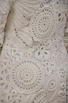 crochet woolen coat