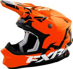 FXR Racing - 2015 Snowmobile Apparel - Blade Helmet - Orange/Black Matte