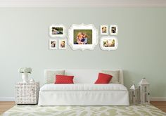 Gorgeous, white wall gallery!  Frames via The Organic Bloom.