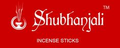 Shubhanjali - Rectangle logo of Shubhanjali on Red background with small tag line Incense Sticks, Red Background, Neon Signs, Logo, Stuff To Buy, Free, Logos, Environmental Print