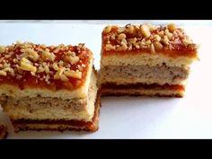 Prajitura cu nuca (reteta usoara) - YouTube Romanian Food, No Bake Cake, Food Videos, Tiramisu, Banana Bread, Ethnic Recipes, Desserts, Youtube, Cheesecake