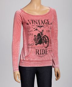 Another great find on #zulily! Cherry 'Vintage Ride' Sweatshirt #zulilyfinds