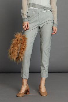 Cogent Pant - Silver Pinstripe