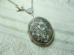 wildflower steampunk necklace