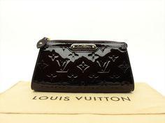 Louis Vuitton Auth Monogram VERNIS Amarante Trousse Cosmetic MM POUCH Clutch Bag #LouisVuitton #CosmeticBags