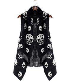 Look what I found on #zulily! Black & White Skull Poncho #zulilyfinds