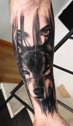 34 Best Ideas Tattoo Ideas Wolf Bears - 34 Best Ideas Tattoo Ideas Wolf Bears The Effective Pictures We Offer You About little girl - Wolf Tattoo Forearm, Wolf Tattoo Sleeve, Sleeve Tattoos, Tattoo Arm, Tattoo Wolf, Lion Tattoo, Tattoo Girls, Wolf Girl Tattoos, Eagle Tattoos