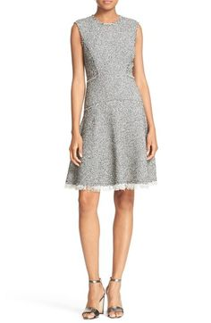 Rebecca Taylor Sleeveless Stretch Tweed Fit & Flare Dress available at #Nordstrom