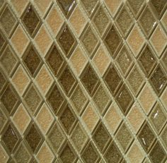 Crackle Glass Mosaic Tile #5 Beige Rhomboid by Classic Tile & Marble Inc