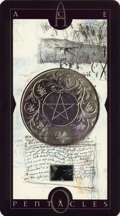Vertigo Tarot: Ace of Pentacles . .  .I have this deck.  It's amazing art.