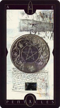Vertigo Tarot: Ace of Pentacles . .  .I have this deck.  It's amazing art.