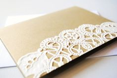 Lovely and easy way to add some flair to a standard piece of stationary.
