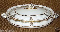 Royal Crown Derby Lombardy Oval Covered Vegetable Bowl