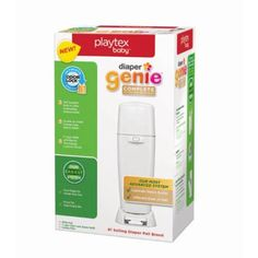 Diaper Genie Playtex Complete Diaper Pail with Odor Lock Technology, White Looking for a sweeter smelling nursery? Look no further than Diaper Genie Complete Diaper Genie Refill, Berlin, Target Baby, Diaper Pail, Free Diapers, Holding Baby, Disposable Diapers, Babies R Us, Inevitable
