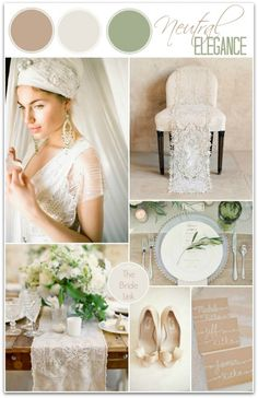 Romantic neutral wedding ideas
