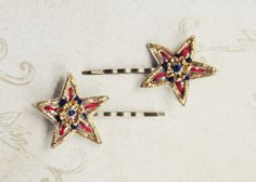 Vintage Costume  star hairpin pair from GDO by girlsdayout on Etsy, $14.00