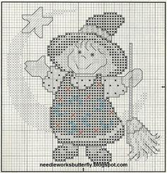 Needle-Works Butterfly: A Little Witch Cross Stitch Pattern