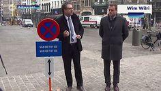 Het schijnt in Antwerpen een plaag te zijn. Mensen die tijdelijke parkeerborden achterover drukken. Of het bord een eindje verderop neerzetten.