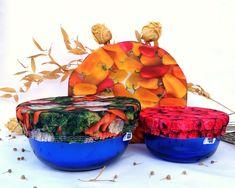Ensemble-cadeau Cuisine Écolo 1 sac format congélation 3   Etsy Bowl, Planter Pots, Etsy, Couture, Scrap Fabric, Bag, Haute Couture