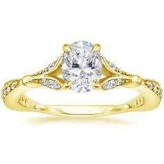 Oval Cut Zinnia Diamond Engagement Ring - 18K Yellow Gold