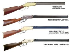 These are the real Henry rifles. Notice that they don't have a wooden forearm. I want one of these so bad. Just a really cool Cowboy rifle. Military Weapons, Weapons Guns, Guns And Ammo, Armas Airsoft, Henry Rifles, Lever Action Rifles, Fire Powers, Hunting Rifles, Cool Guns