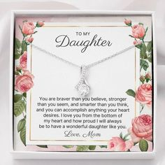 To Our Daughter, You Are Braver Than You Believe, Stronger Than You Seem, And Smarter Than You Think, And You Can Accomplish Anything Your Heart Desires. We Love You From The Bottom Of Our Hearts And How Proud We Will Always Be To Have A Wonderful Daughter Like You. Love, Mom And Dad #quote #quotes #happybirthday #daughtergifts #daughtergift #giftfordaughter #giftsfordaughter #giftdaughter #tomydaughter #birthdaygift #birthdaygifts #graduationgift #graduationgifts #christmasgift #christmasgifts Happy Birthday Mom From Daughter, Graduation Gifts For Daughter, Happy Birthday Me, To My Daughter, Birthday Gifts, 9 Year Wedding Anniversary, Anniversary Gifts For Wife, Nanny Gifts, Sister Gifts