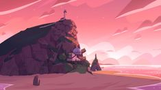"""""""Steven Universe Future"""" Background Painted by Charles Hilton. Steven Universe Wallpaper, Steven Universe Background, Pearl Steven Universe, Cartoon Background, Paint Background, Animation Background, Cartoon Network, Computer Wallpaper, Hd Wallpaper"""
