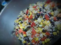 Black Bean and Couscous Salad. Yum for the summer!