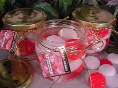 Scented gel candles