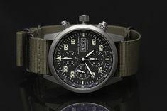 Ηandmade in Zurich by master watchmaker Daniel Dreifuss, the Chronograph Modern from Maurice De Mauriac Zurich is probably the world's best military watch.