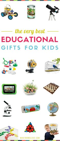 Best educational gifts for kids from toddlers to teens | Fun non toy gift ideas that promote learning in children - perfect for the holidays! #giftidea #educational #giftguide #christmasgifts #learning