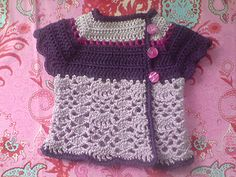 cute short sleeved baby cardigan - free Ravelry download