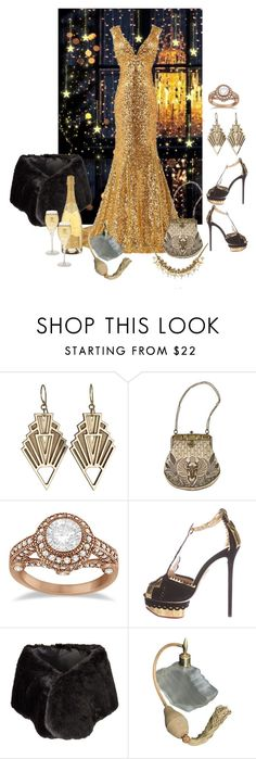 """A Very Deco New Year"" by shelley-harcar ❤ liked on Polyvore featuring Allurez and Charlotte Olympia"