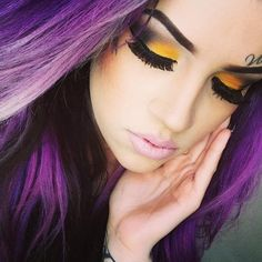 Love it! The makeup &.....Purple hair!!!!!!
