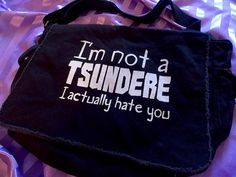 Tsundere Anime sac messager japonais sac anime par gesshokudesigns