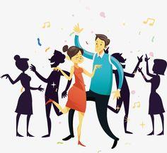 Fashionable men and women dance, Dance, Fashionable Men And Women, Vector PNG and Vector