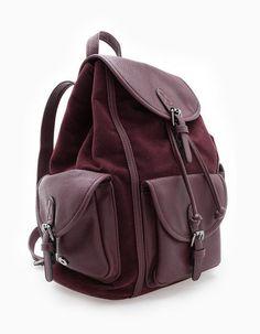 Tendance Sneakers : Sac à dos matières combinées SACS FEMME | Stradivarius France Backpack For Teens, Backpack Bags, Purse Wallet, Clutch Bag, Look Fashion, Fashion Bags, Sac Michael Kors, Back Bag, Cute Backpacks
