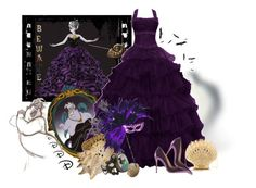 """""""The Little Mermaid-Ursula"""" by kimzarad1 ❤ liked on Polyvore featuring Disney, Herend, Charlotte Olympia and Gianvito Rossi"""